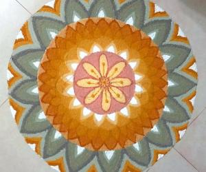 Rangoli: Happy Vasanth Panchami to all.