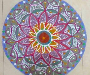 Freehand Rangoli - Margazhi Collections 2017-18