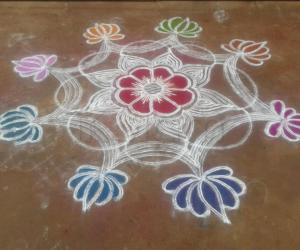 double stroke design kolam
