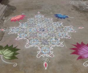 Rangoli: my chikku kolam