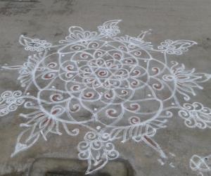 Rangoli: my white kavi rangoli