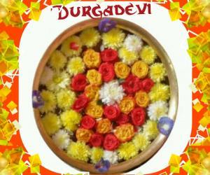 Rangoli: DD flowers decoration