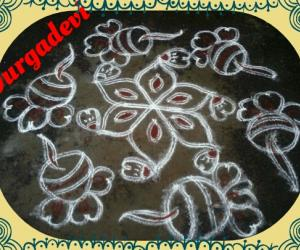 Deepam kolam with kavi