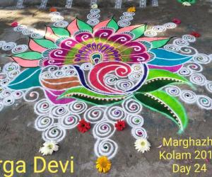 Marghazhi Kolam 2018 Day 24 by DD