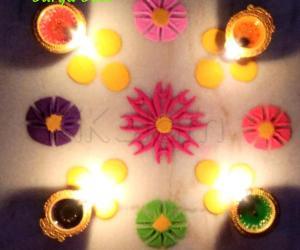 Karthigai Deepam special kolam 4