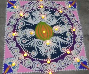 Rangoli: Sanskar barathi Rangoli for Sports Day Special