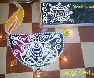 Diwali special rangoli 3 by DD