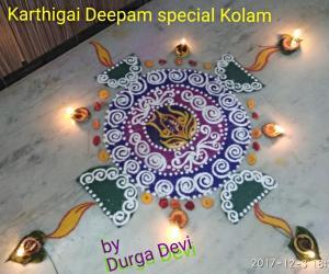 Sivan Rangoli for Karthigai Deepam special