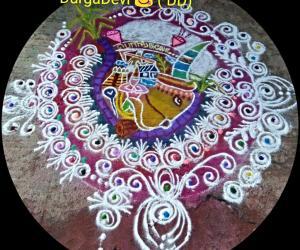 Mattu Pongal Special Sanskar Bharati Rangoli