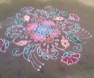 rangoli - kaanum pongal