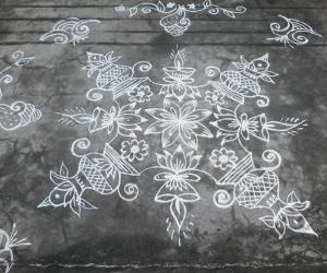 Sravana mangalavaram muggu with kalasam...