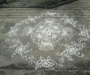 Daily freehand kolam
