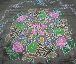 Rangoli: Happy new year....