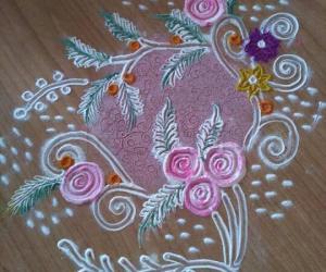 roses rangoli