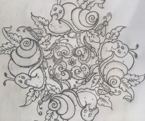 Snails special rangoli