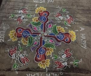 Rangoli: Happy New Year rangoli
