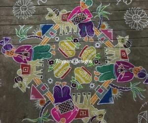 Rangoli: My pongal kolam..