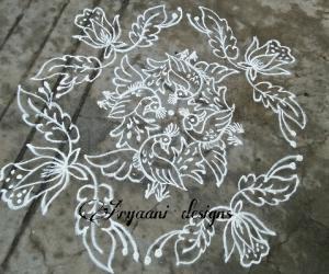 Rangoli: Simple rangoli...
