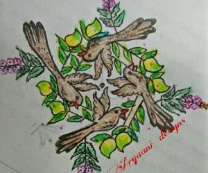 Rangoli: One more creation..... For ugaadi