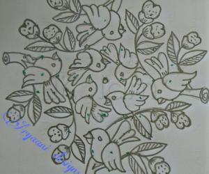 Rangoli: World's sparrow Day special....