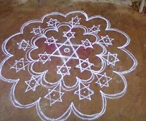 Rangoli: Twinkling stars Rangoli