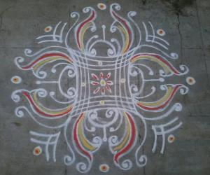 My evening kolam!