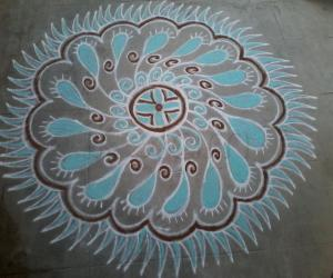 Rangoli: Stunning Saturday Kolam