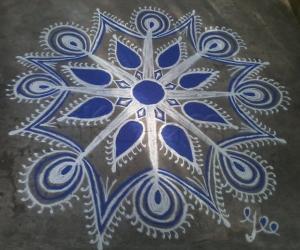 Navarathri Special! Day-2 Navy blue!!