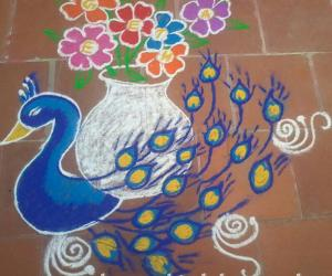 My birthday kolam!