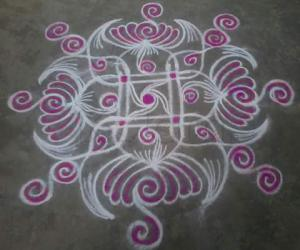 my simple one kolam!