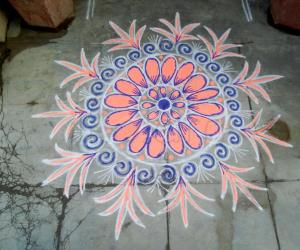 My daily kolam!