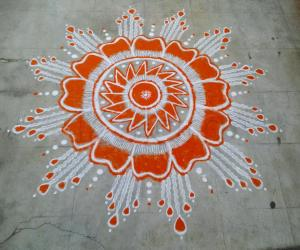 Rangoli: Day2; Orange..