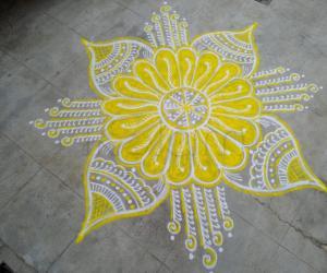 Navarathri day 6 Yellow!