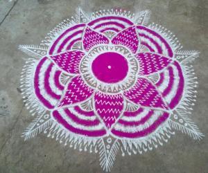 Rangoli: Margazhi kolam_28!