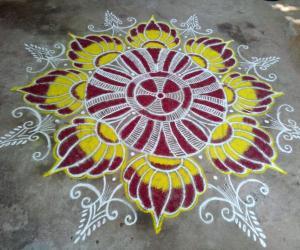 Margazhi kolam_29! Happy Bhogi!,