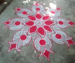 Navarathri day 6 Red!