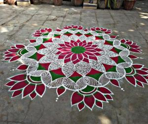 Margazhi kolam day-30! Happy bhogi friends!