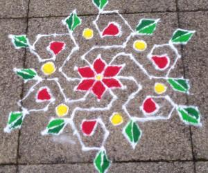 Rangoli: Winter Kolam