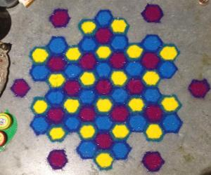 Hexagonal Rangoli