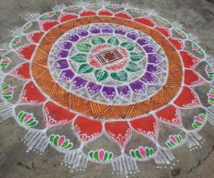 Rangoli: NAVARATHRI