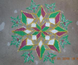Rangoli: Christmassy