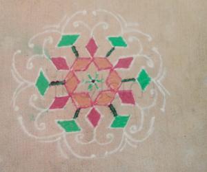 Rangoli: Simple 5-9-5 interlaced