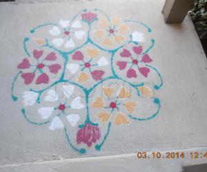 Rangoli: Navarathri kolam