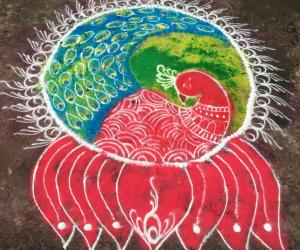 Rangoli: mayilar rangoli