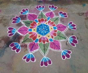 Rangoli: Flowers!!