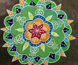 Rangoli: colourful rangoli