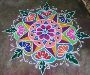 colourful rangoli