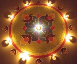 Rangoli: Kolam for Diwali 2015