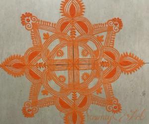 Rangoli: Navratri Day 5