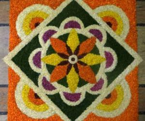Rangoli: Onaashamshakal-Onam wishes